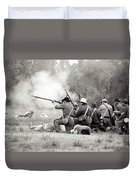 Shots Fired Civil War Duvet Cover
