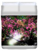 Shower Tree Flowers And Hawaii Sunset Duvet Cover