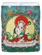 Shri Saraswati - Goddess Of Wisdom And Arts Duvet Cover