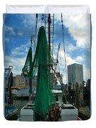 Shrimp Boat Back Duvet Cover