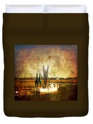 Shrimp Boat In Charleston Duvet Cover