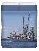 Shrimp Boat Parade Of The Shrimp Festival Duvet Cover