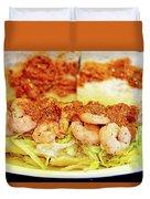 Shrimp Po-boy Duvet Cover