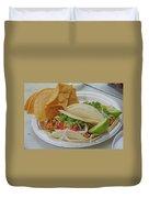 Shrimp Taco Duvet Cover