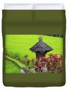 Shrine In Rice Field Duvet Cover