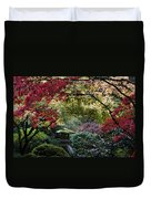 Shrine In Watercolors Duvet Cover