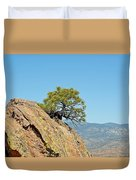 Shrub And Rock At Canon City Duvet Cover