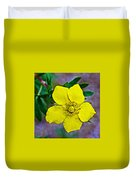 Shrubby Cinquefoil On Iron Creek Trail In Sawtooth National Wilderness Area-idaho  Duvet Cover