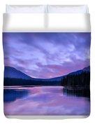 Shunda Lake At Dawn Duvet Cover