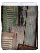 Shutters And Column  Duvet Cover