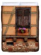 Shutters And Window Box In Kaysersberg Duvet Cover