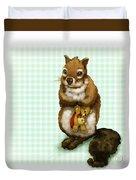 Shy Squirrel Duvet Cover