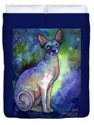 Shynx Cat 2 Painting Duvet Cover by Svetlana Novikova