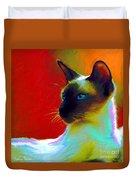 Siamese Cat 10 Painting Duvet Cover