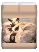 Siamese Lovers Duvet Cover