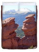 Siamese Twins And Pikes Peak Duvet Cover