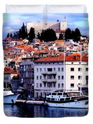 Sibenik Waterfront Duvet Cover