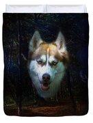 Siberian Husky Duvet Cover by Brian Roscorla