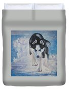 Siberian Husky Run Duvet Cover