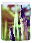 Siberian Iris Bud Duvet Cover