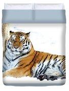 Siberian Tiger Amur Tiger Duvet Cover