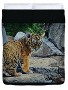 Siberian Tiger Cub Duvet Cover