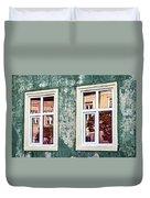 Sibiu Window Reflections - Romania Duvet Cover