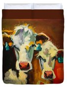 Sibling Cows Duvet Cover