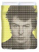 Sid Vicious Mug Shot - Yellow Duvet Cover