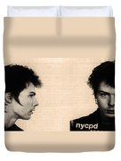 Sid Vicious Mugshot Duvet Cover by Bill Cannon