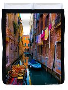 Side Canal  Venice Duvet Cover