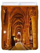 Side Hall Notre Dame Cathedral - Paris Duvet Cover