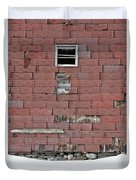 Side Of An Abandoned Old Barn Duvet Cover