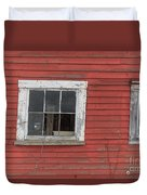 Side Of An Old Red Barn Quechee, Vermont Duvet Cover