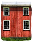 Side Of Barn And Windows At Old World Wisconsin Duvet Cover