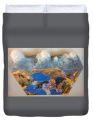 Side Show Mountains Duvet Cover