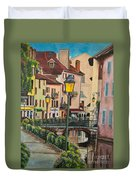 Side Streets In Annecy Duvet Cover