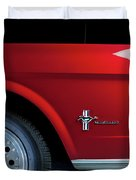 Side View Of 1964 Ford Mustang Duvet Cover