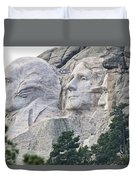 Side View Of Mount Rushmore  8696 Duvet Cover