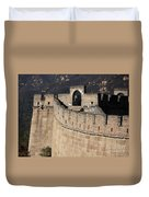 Side View Of The Great Wall Duvet Cover