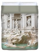 Side View Of The Trevi Fountain In Rome Duvet Cover