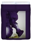 Side View Purple And White Iris Duvet Cover