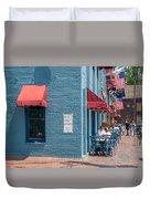 Sidewalk Cafe Annapolis Duvet Cover