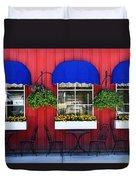 Sidewalk Cafe Duvet Cover