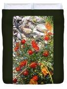 Sidewalk Flowers Duvet Cover