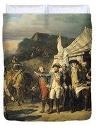 Siege Of Yorktown Duvet Cover