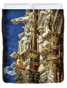Siena Duomo Statues 2 Duvet Cover