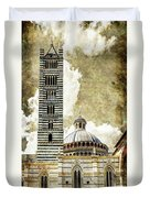 Siena Duomo Tower And Cupola Duvet Cover