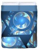 Sienna Blue Honeycomb Duvet Cover