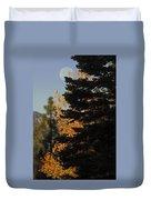 Sierra Autumn Moonset Duvet Cover